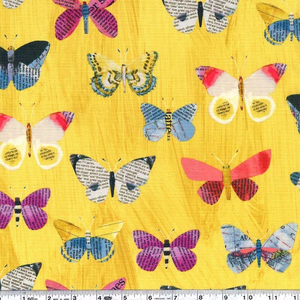 Wonder - Butterflies - Mustard