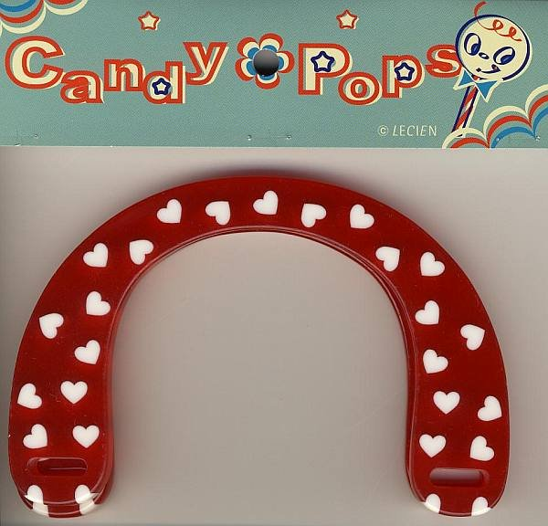 Handles - Red w/White Hearts