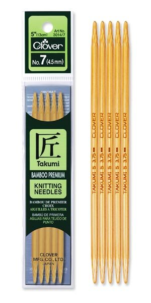 Takumi Bamboo Knitting Needles - Double Pointed 5