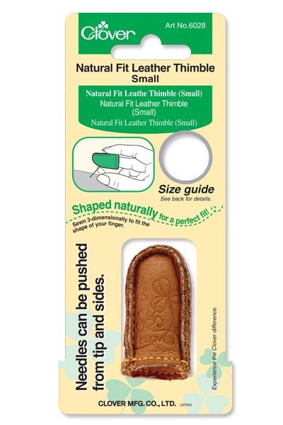 Clover Natural Fit Leather Thimble - Small