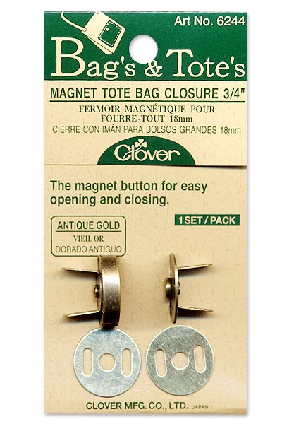 Clover Magnetic Snap - 3/4 - Antique Gold