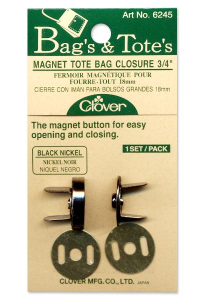 Clover Magnetic Snap - 3/4 - Black Nickel