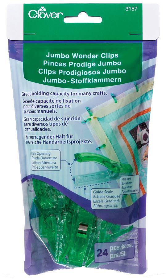 Clover Jumbo Wonder Clips - 24 pieces