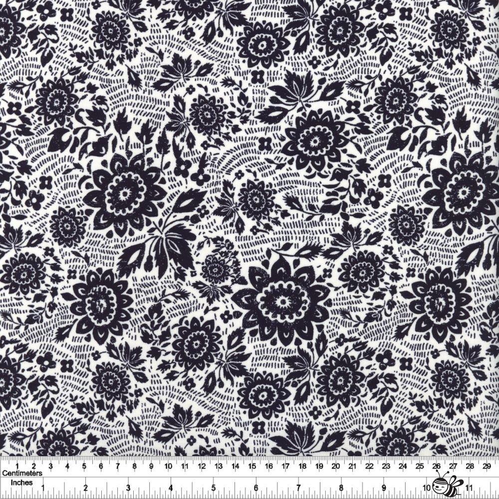 Sashiko - Floral Stitch - Ivory
