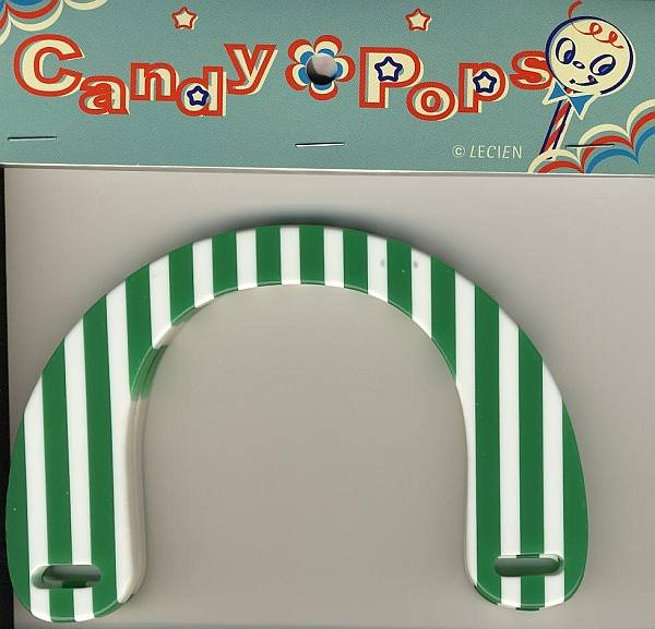Handles - Green & White Stripes
