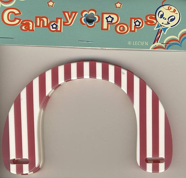 Handles - Pink & White Stripes