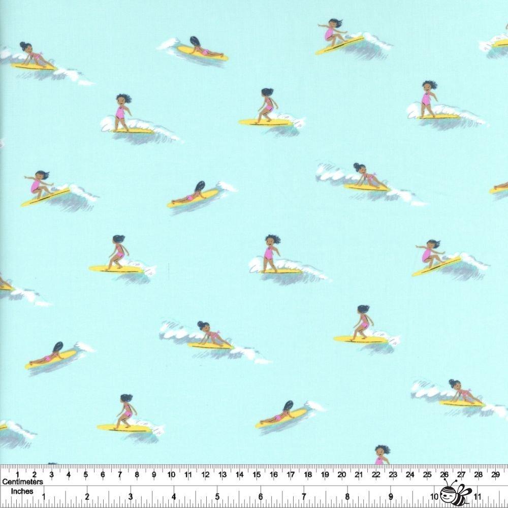 Malibu - Tiny Surfers Lawn - Sea Foam