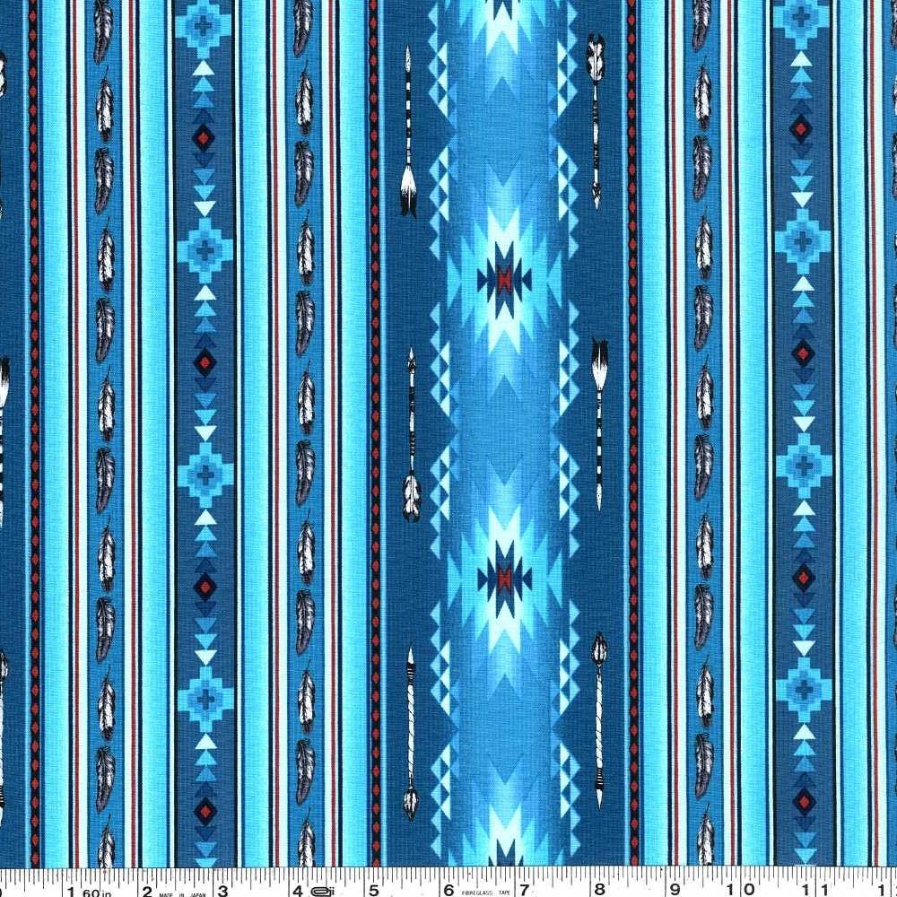 Native Spirit - Feather Stripe - Turquoise