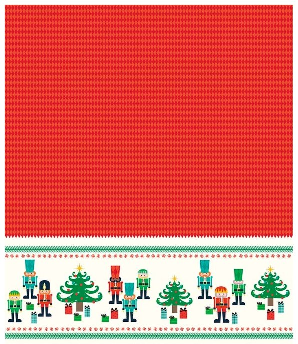 Nutcracker Christmas - Nutcracker Border - Red