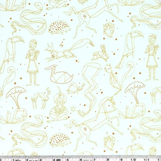 Whisper Palette - Constellation - Gold on Pale Blue
