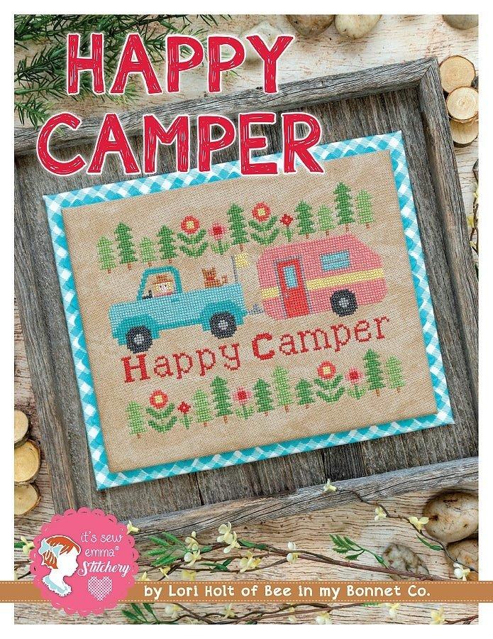 Bee in My Bonnet Cross Stitch Pattern - Happy Camper