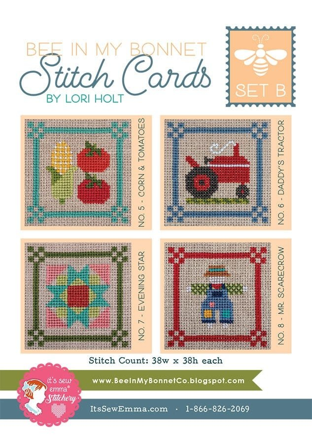 Bee in My Bonnet Stitch Cards - Set B - Harvest