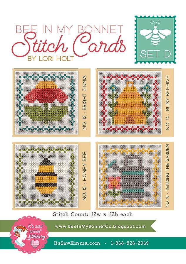 Bee in My Bonnet Stitch Cards - Set D - Pollinate