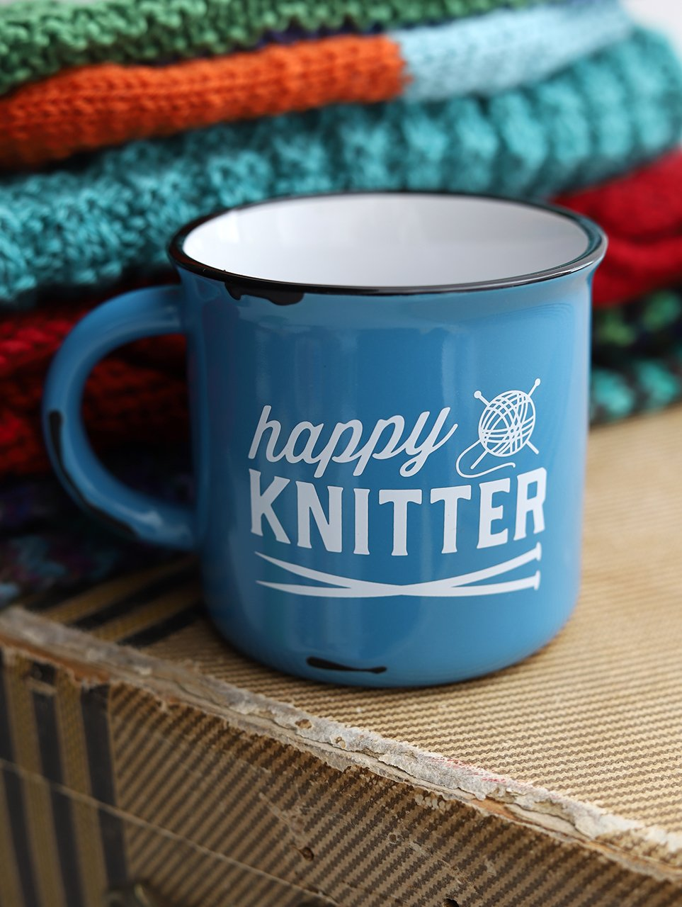 Happy Knitter Camp Mug