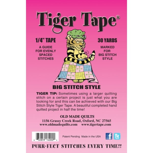 Tiger Tape - 1/4 Big Stitch Style Quilting