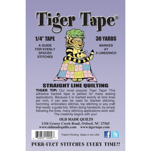 Tiger Tape - 1/4 Straight Line Quilting