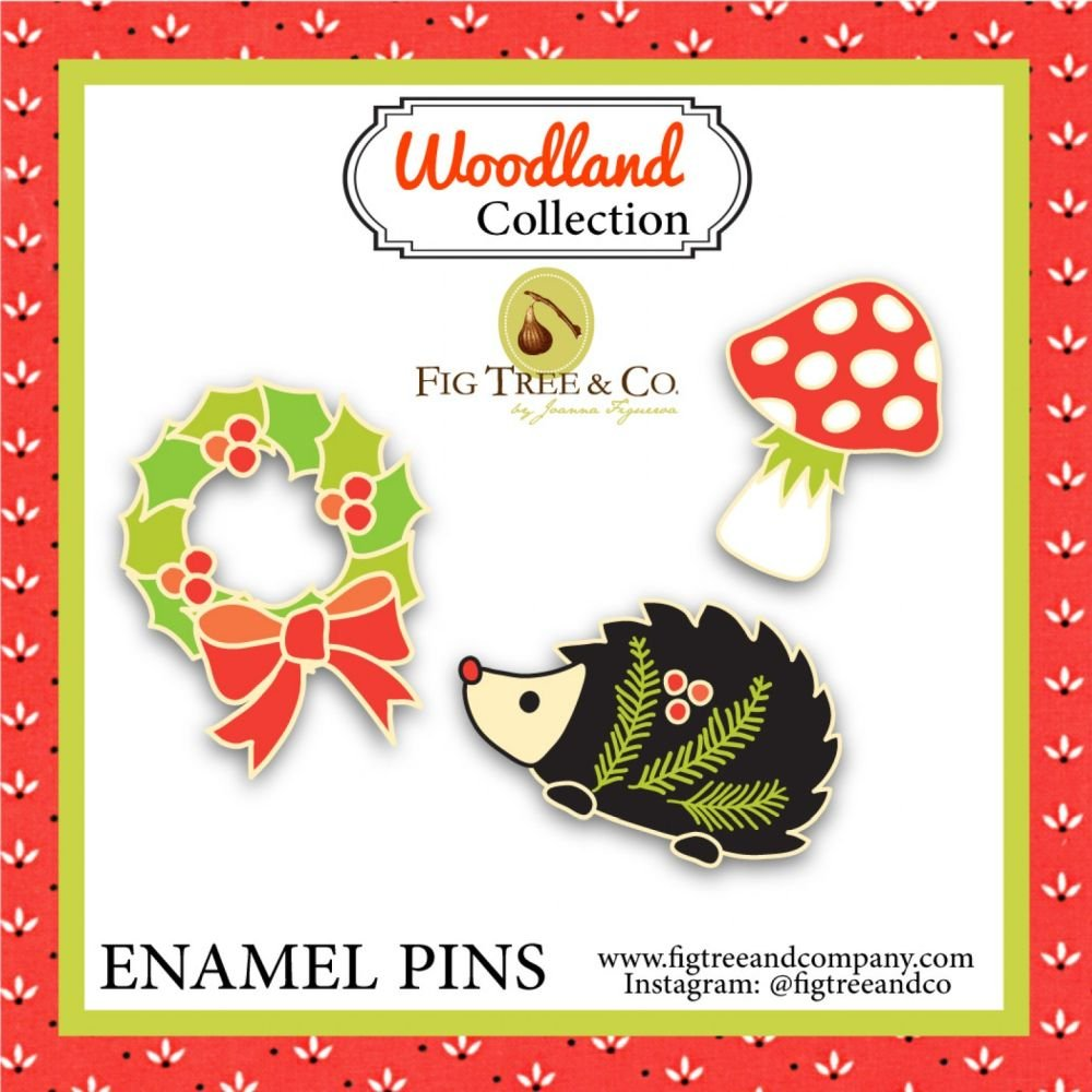 Fig Tree & Co - Enamel Pin Set - Woodland Collection