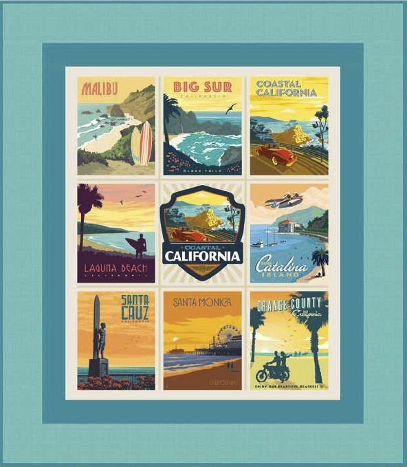 California Beaches Panel Quilt - PDF Pattern