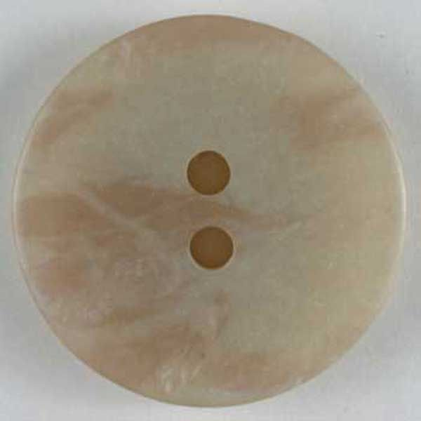 Opalescent Polyester Button - Beige - 25mm