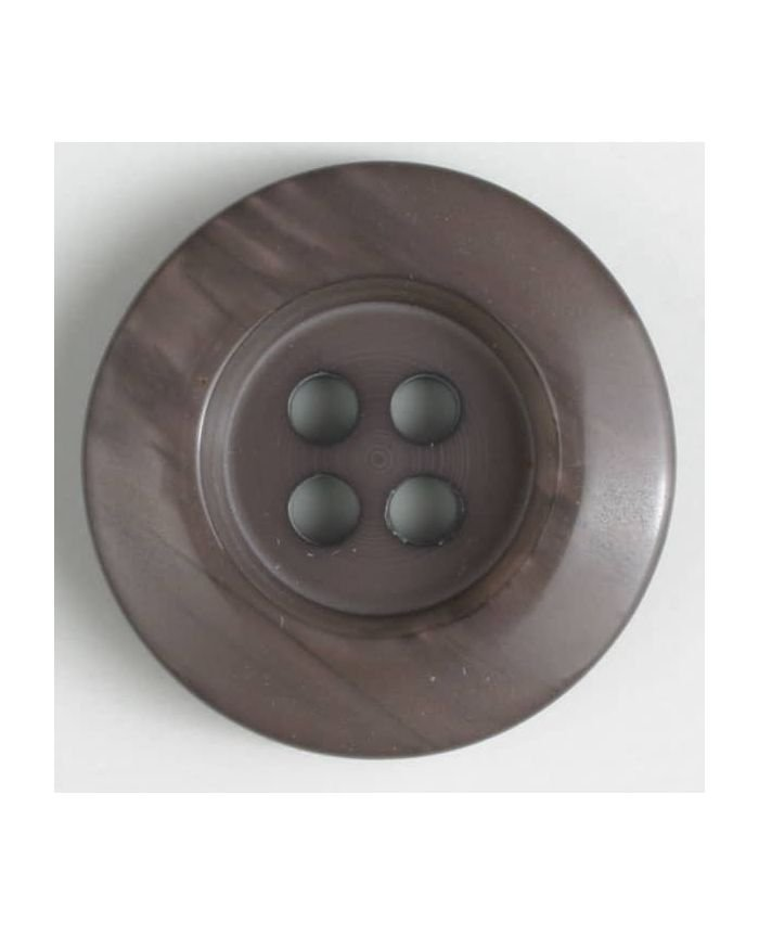Simple Shine Button - Beige - 20mm