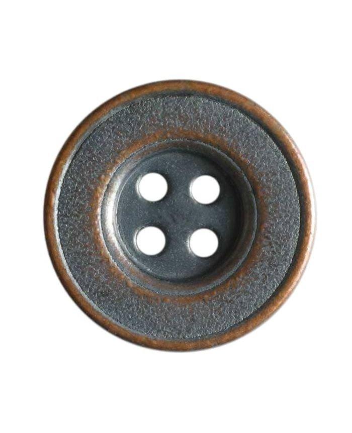 Full Metal Button - Copper - 15mm
