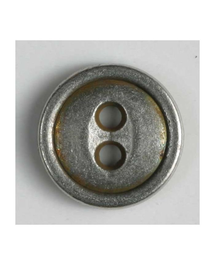 Full Metal Button - Antique Tin - 11mm