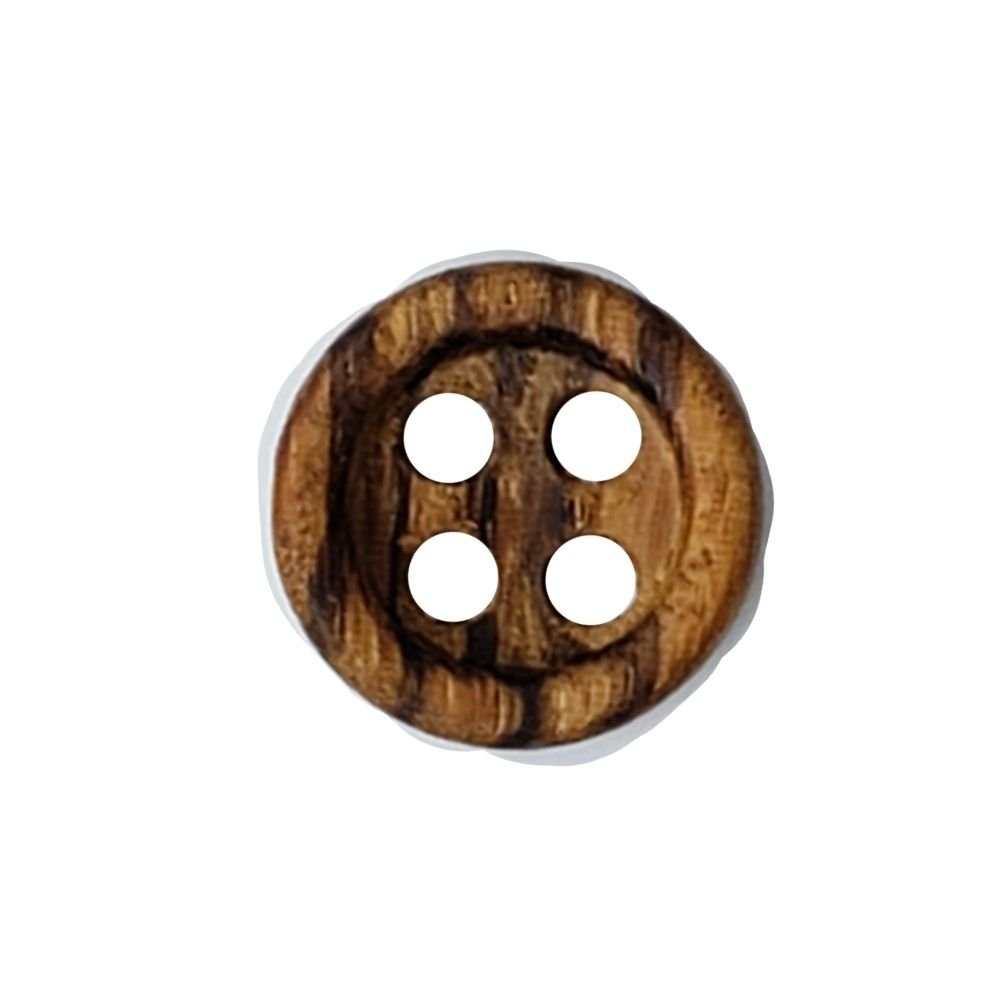 Wooden Striped Buttons - 20mm