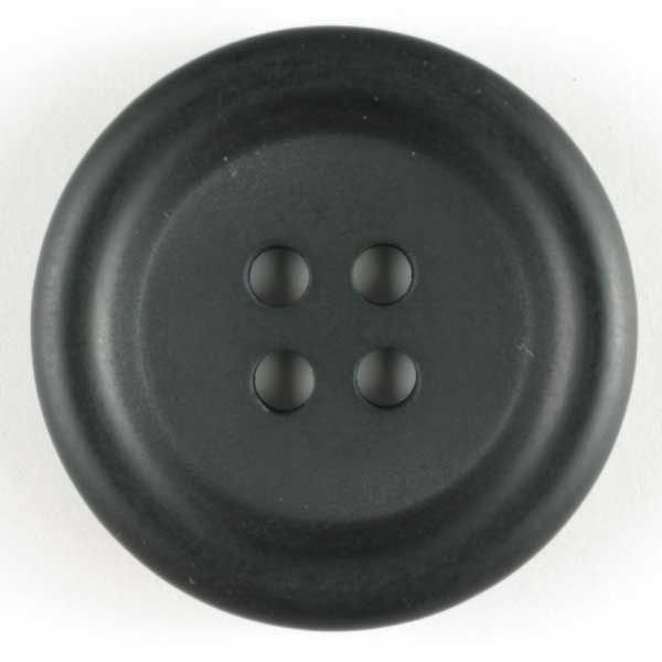 Suit Button - Black - 20mm