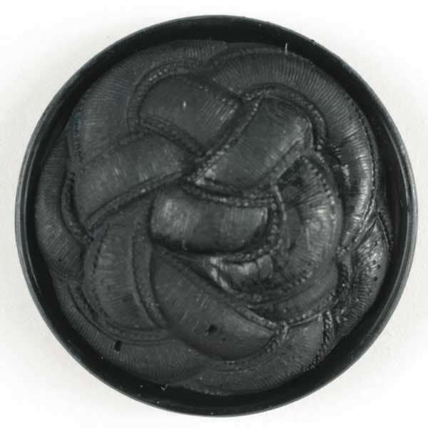 Knot Button - Black - 23mm