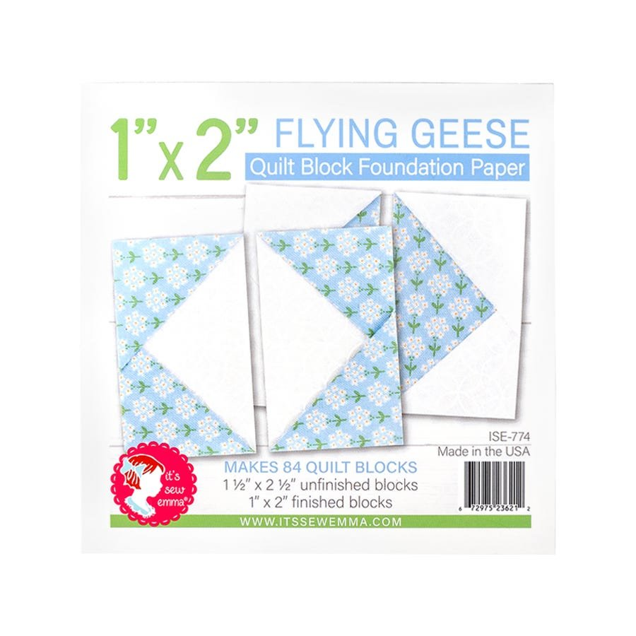 Foundation Paper Pad - Flying Geese 1 x 2 Block