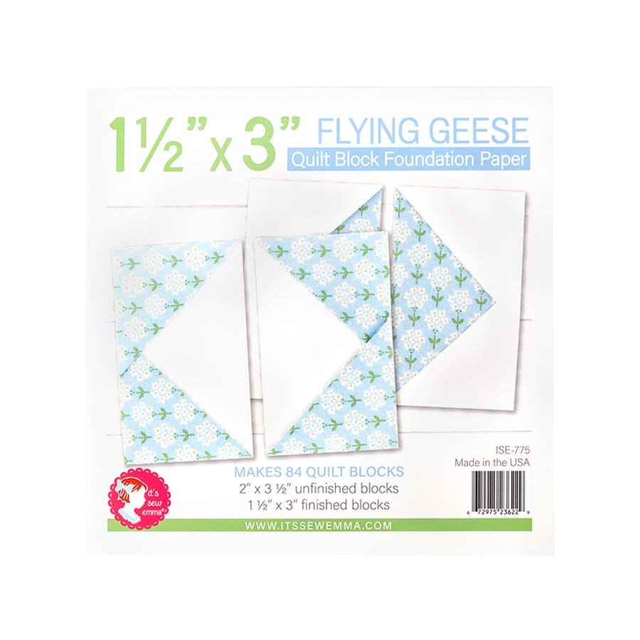 Foundation Paper Pad - Flying Geese 1 1/2 x 3 Block