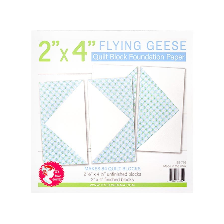 Foundation Paper Pad - Flying Geese 2 x 4 Block