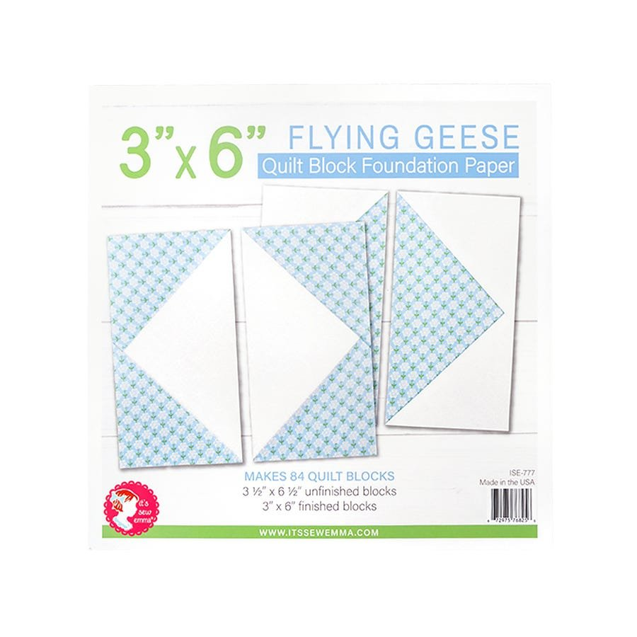 Foundation Paper Pad - Flying Geese 3 x 6 Block