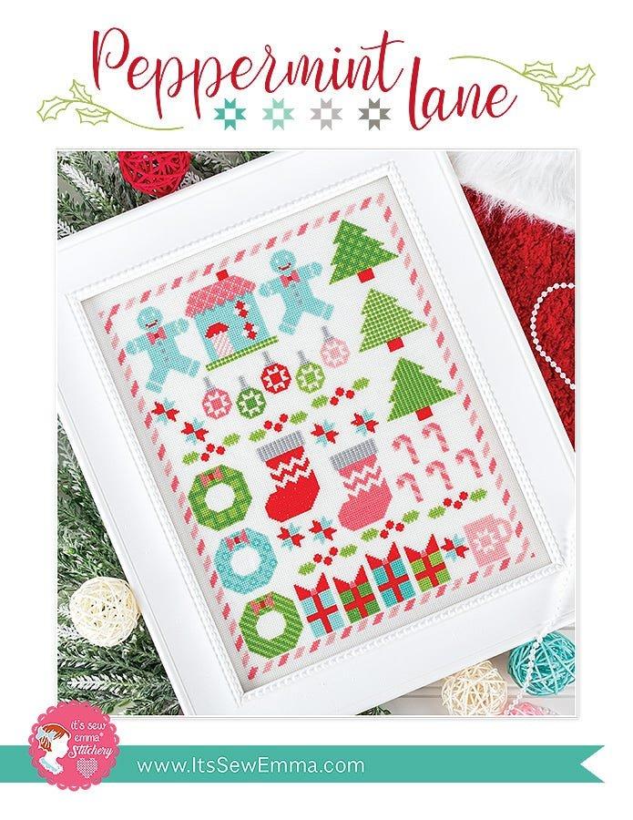 It's Sew Emma - Peppermint Lane Cross Stitch Card