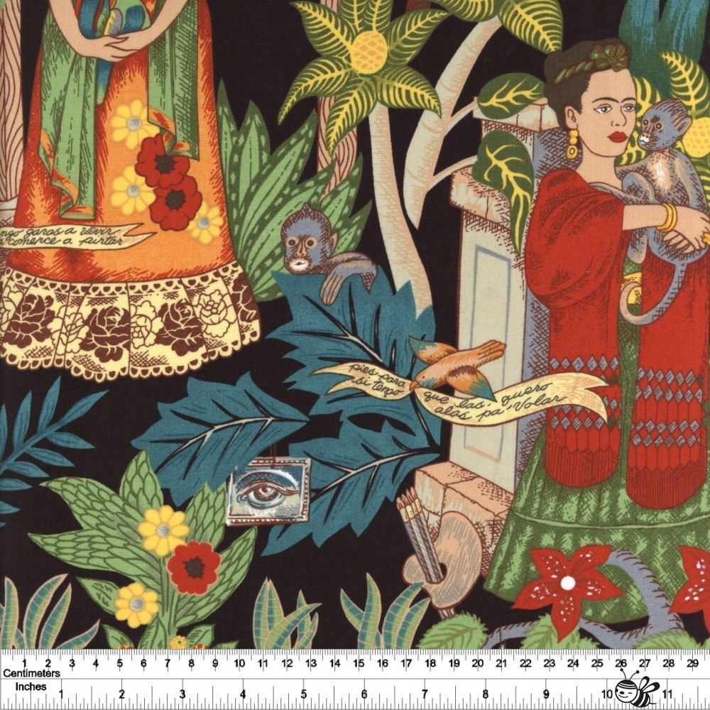 Folklorico - Frida's Garden - Black