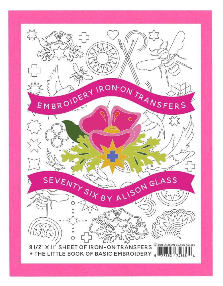 Alison Glass Embroidery Iron-On Transfers - Seventy Six