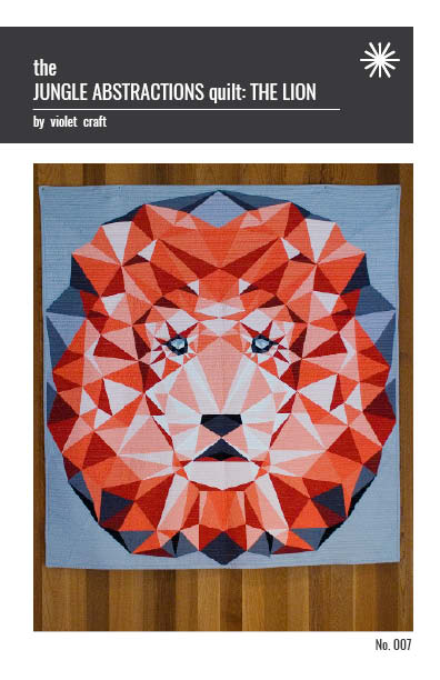 Violet Craft - Jungle Abstractions Quilt: The Lion