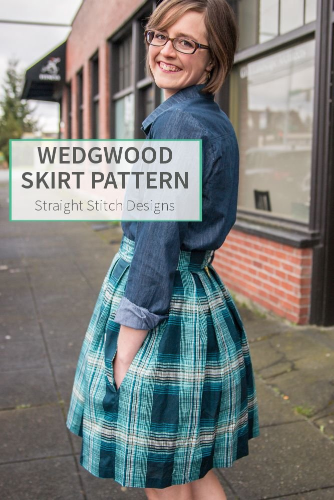 Straight Stitch Designs - Wedgwood Skirt