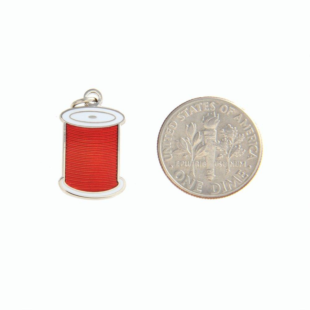 Enamel Charm - Spool - Red