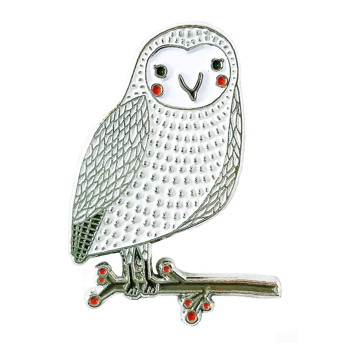 Gingiber - Enamel Pin - Merriment Snow Owl