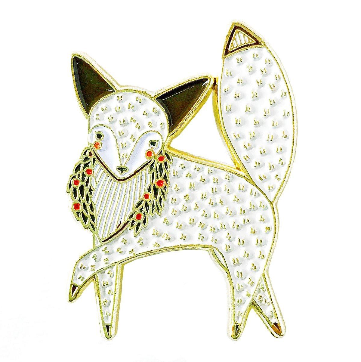 Gingiber - Enamel Pin - Merriment Arctic Fox