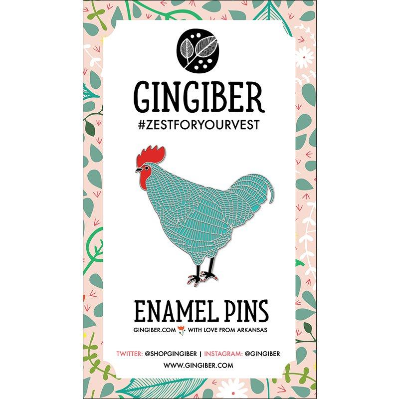 Gingiber - Enamel Pin - Blue Chicken