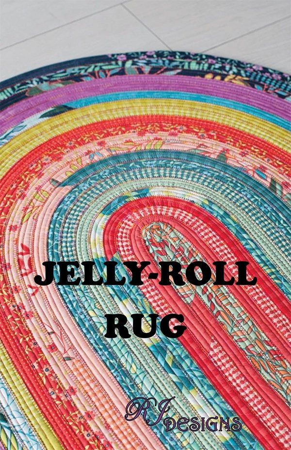 RJ Designs - Jelly Roll Rug - Oval