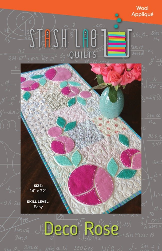 Stash Lab Quilts - Deco Rose Table Runner