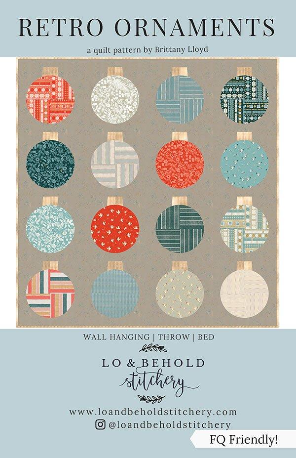 Lo & Behold Stitchery - Retro Ornaments