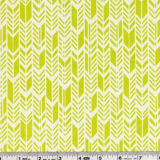 Sun Print - Feathers - Chartreuse