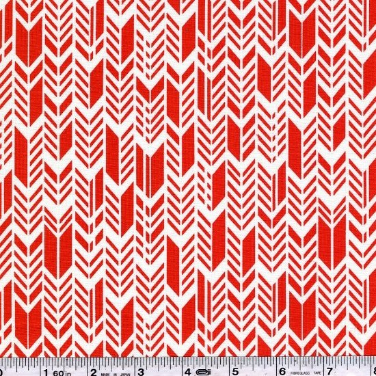 Sun Print - Feathers - Coral Red