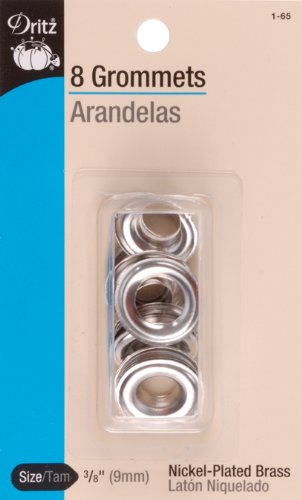 Grommets - 3/8 Nickel-Plated Brass
