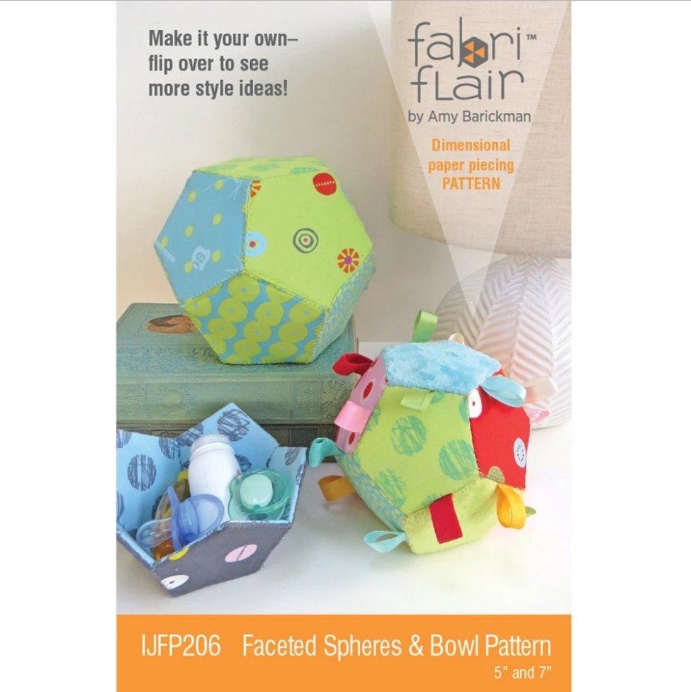 Fabri Flair - Faceted Spheres & Bowl