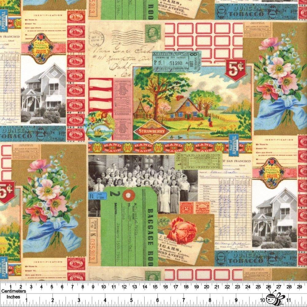 Flea Market Mix - Ephemera Collage - Multi